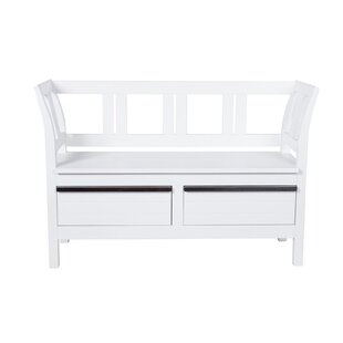 Dowdell Wood Storage Bench By Beachcrest Home