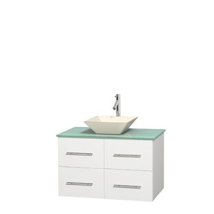 Centra 36 Wall-Mounted Single Bathroom Vanity Set By Wyndham Collection