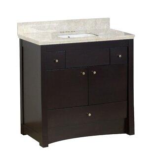 Hardenburgh Transitional Drilling Floor Mount 36 Single Bathroom Vanity Set by Latitude Run