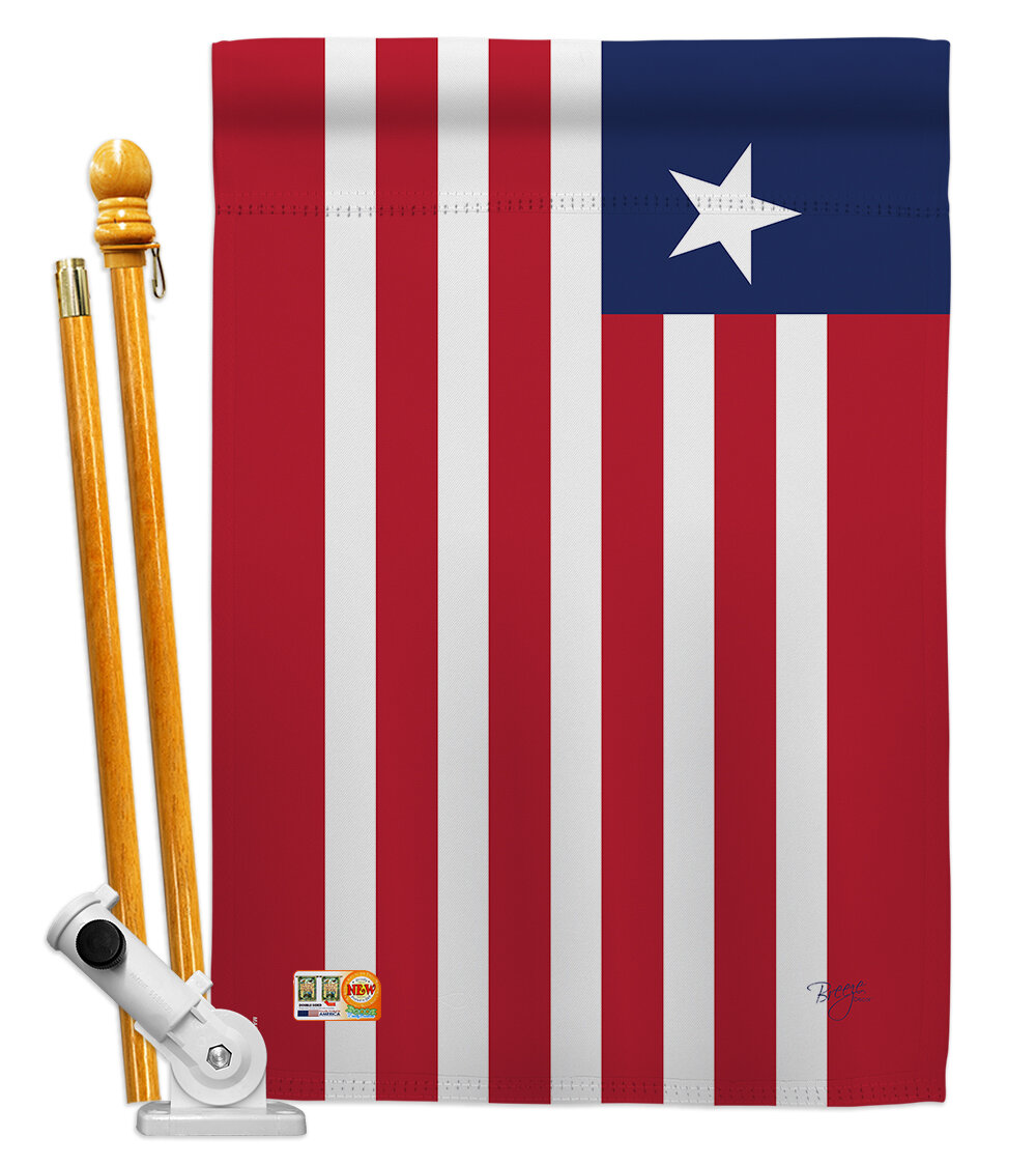 Breeze Decor Liberia Flags Of The World Nationality Impressions Decorative Vertical 2 Sided Polyester 28 X 40 In Flag Set Wayfair Ca