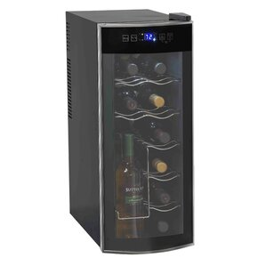12 Bottle Single Zone Freestanding Wine Cooler by Avanti Products