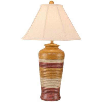 "Coast Lamp Mfg. Rustic Living Ribbed Pot 30"" Table Lamp"