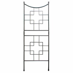 ACHLA Square-on-Squares Iron Arched Trellis