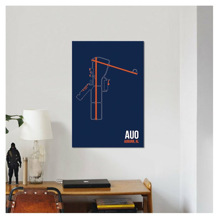 Airport Diagram Series 'Auburn' Graphic Art Print on Canvas