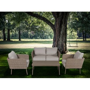 Pelchat 4 Piece Sofa Set With Cushions by George Oliver Fresh