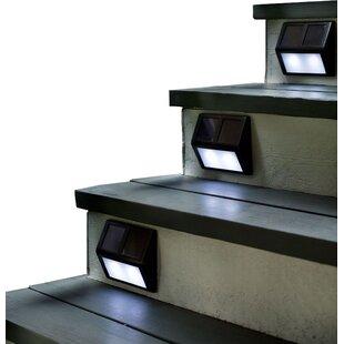 Solar Powered LED Step Light Pack (Set of 4)