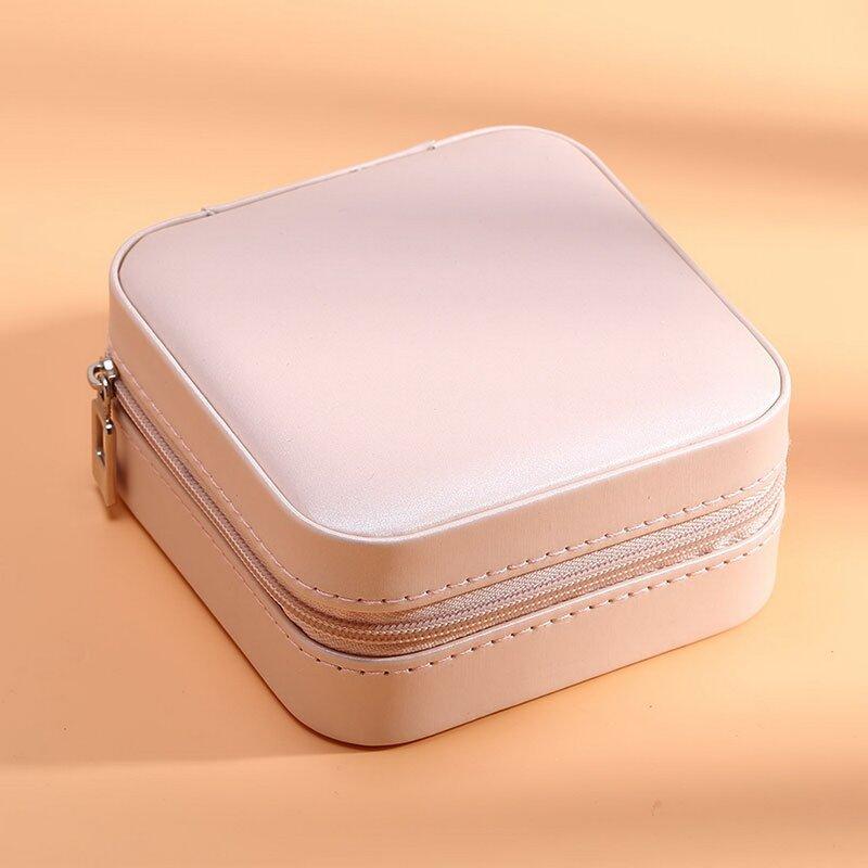 Boîte de rangement pour bijoux en cuir de polyuréthane