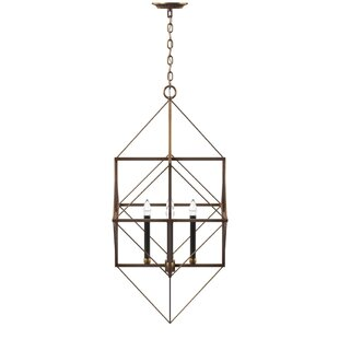 Elienor 4-Light Geometric Chandelier by Willa Arlo Interiors