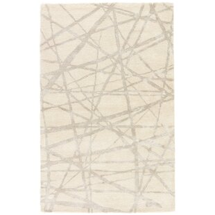 Best Reviews Avondale Geometric Handmade White Area Rug By Nikki Chu