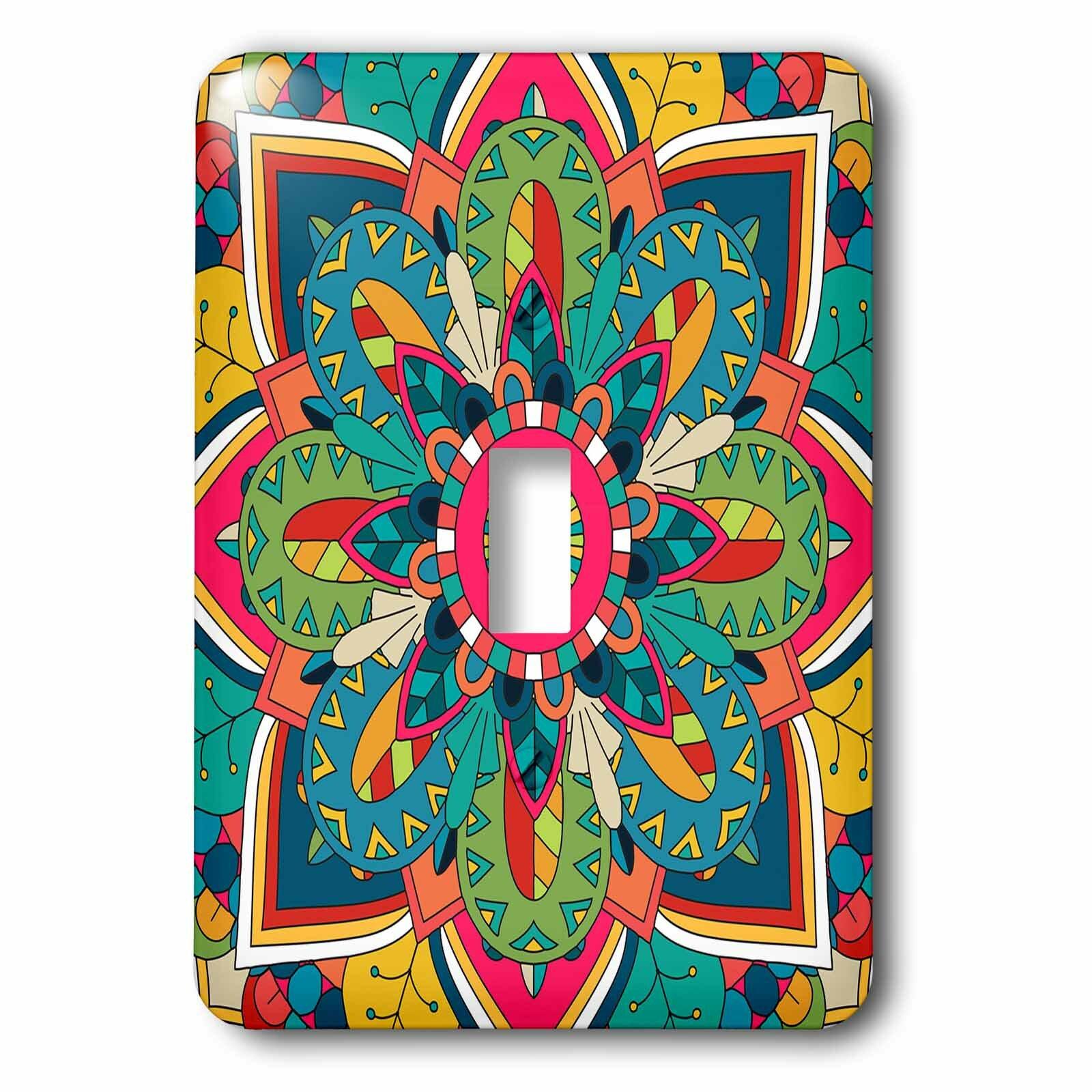 3drose Mandala 1 Gang Toggle Light Switch Wall Plate Wayfair