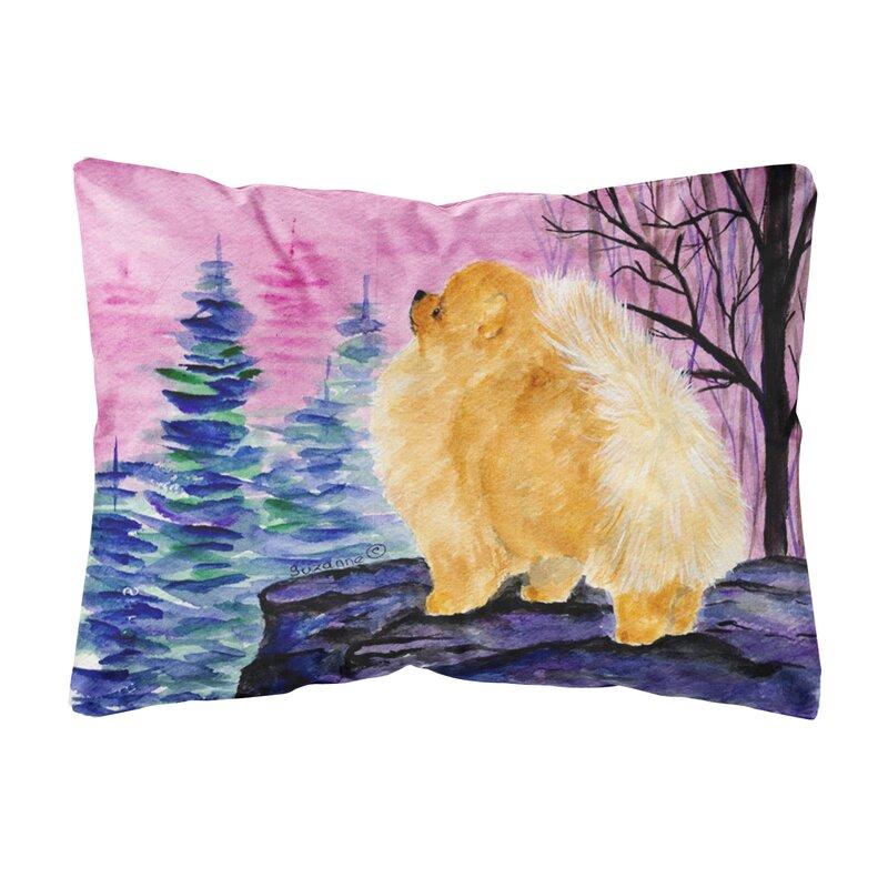 East Urban Home Pomeranian Graphic Print Indoor Outdoor Throw Pillow Reviews Wayfair