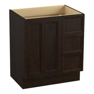 Damask? 30 Vanity with Toe Kick, 1 Door and 3 Drawers on Right by Kohler