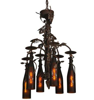 Tuscan Vineyard 6-Light Shaded Chandelier Meyda Tiffany