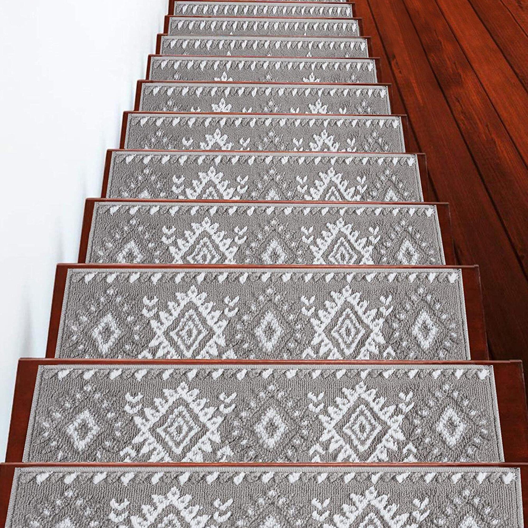 Union Rustic Ashbury Trellis Vibrant And Soft Stair Tread Reviews Wayfair
