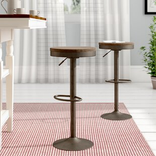 Chambord Adjustable Height Swivel Bar Stool (Set of 2) by Laurel Foundry Modern Farmhouse