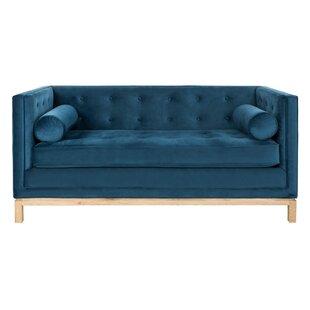 Mercer41 Hoehn Tufted Sofa with Arm Pillows
