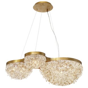 Everly Quinn Shirely Clustered 10-Light Crystal Chandelier