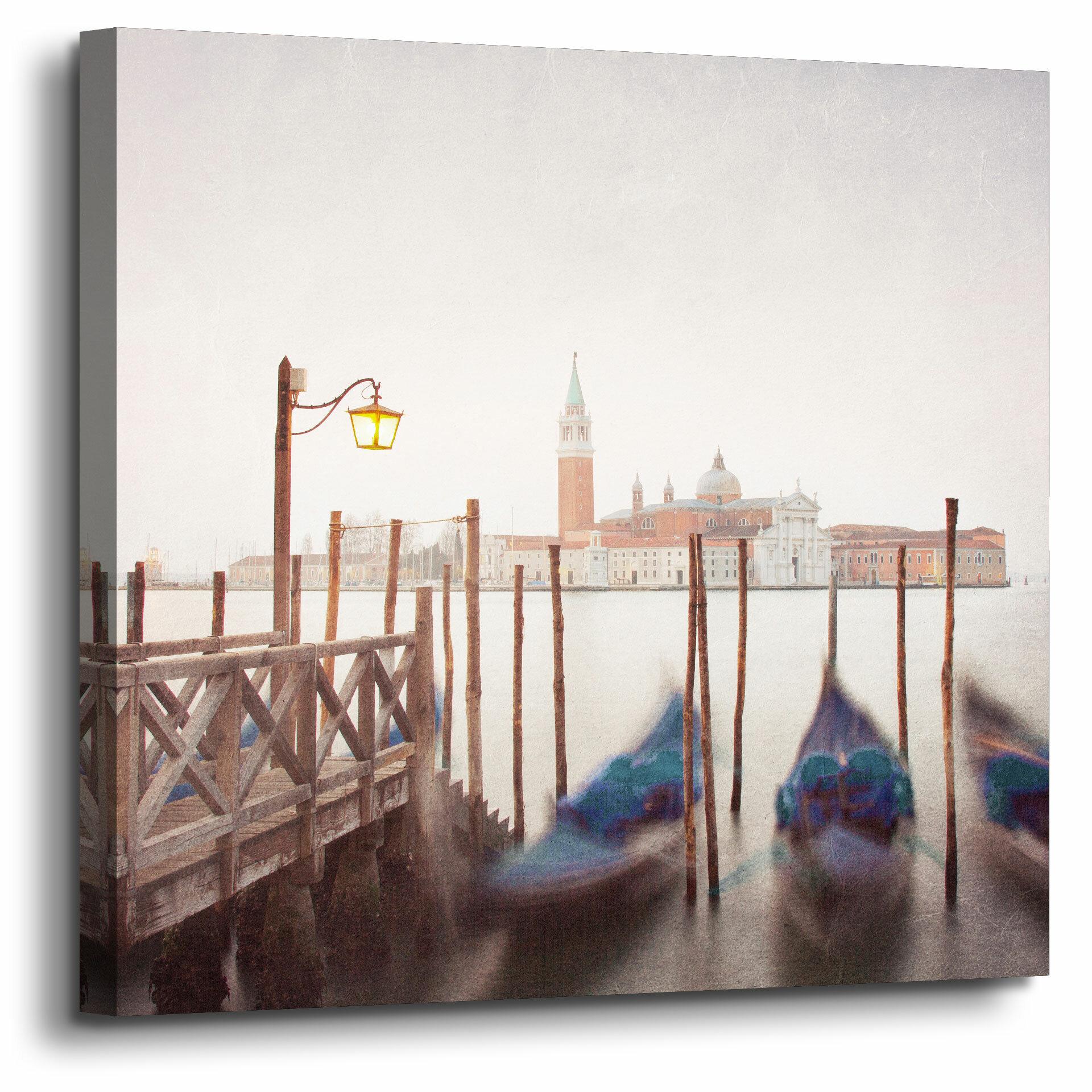 Winston Porter Venice Twilight Photographic Print On Wrapped Canvas Wayfair