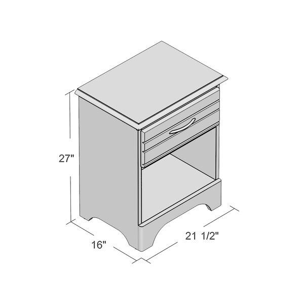 August Grove Della 1 Drawer Solid Wood Nightstand Reviews Wayfair