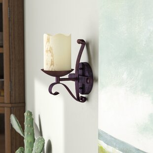 Compare & Buy Burswood 1-Light Glass Wall Sconce By Loon Peak