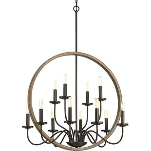 Gracie Oaks Maez 12-Light Chandelier