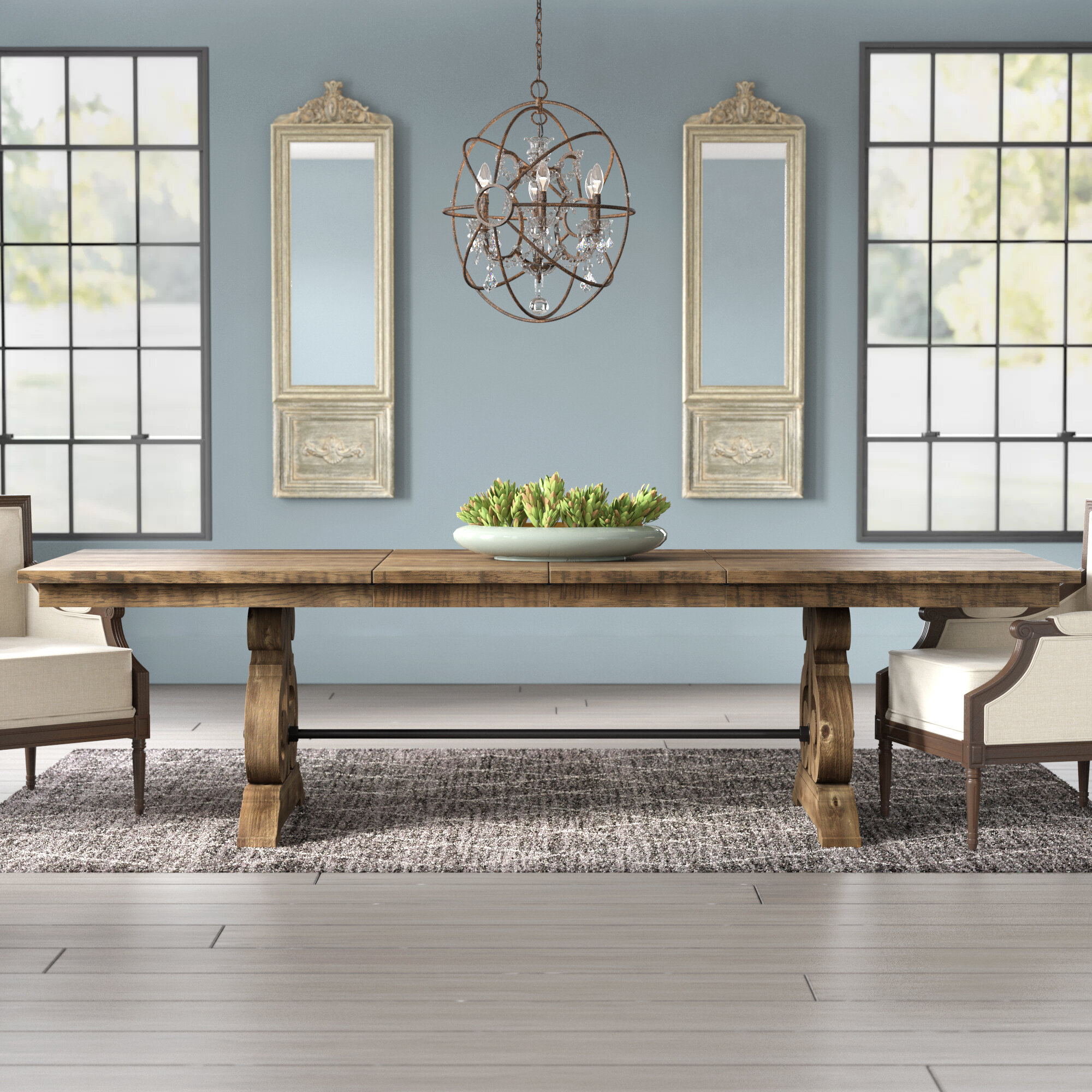 Birch Lane Findley Extendable Dining Table Reviews Wayfair