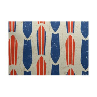 Pembrook Orange/Blue Indoor/Outdoor Area Rug
