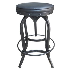 Fiona Adjustable Height Swivel Bar Stool by 17 Stories