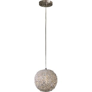 Wrought Studio Chau 1-Light Globe Pendant