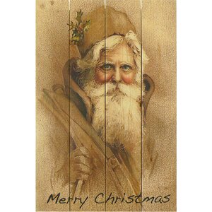 4 Piece Wile E. Wood Merry Christmas Painting Print Set