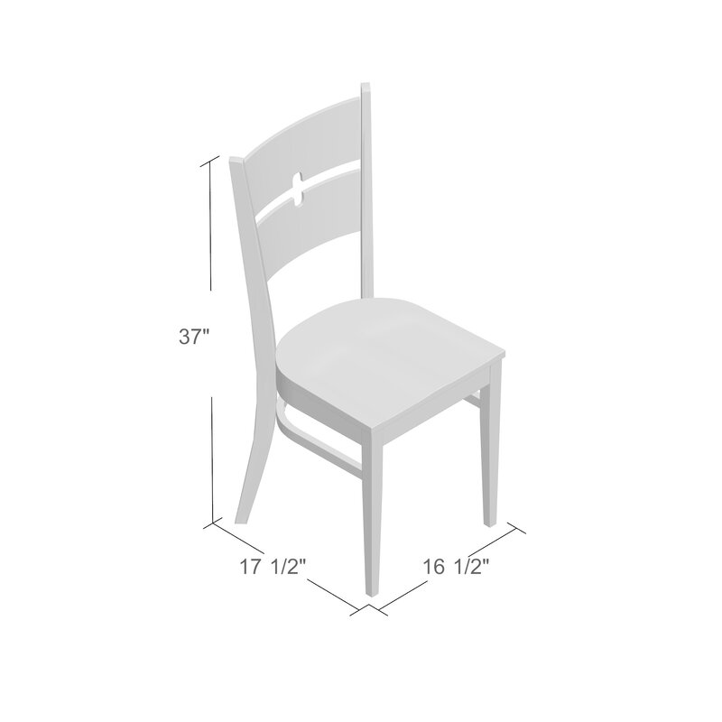 Langwater Ladder Back Solid Wood Dining Chair Set Of 2