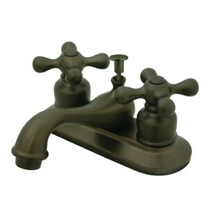 Kingston Brass Restoration Centerset Bathroom Faucet with Drain Assembly Image