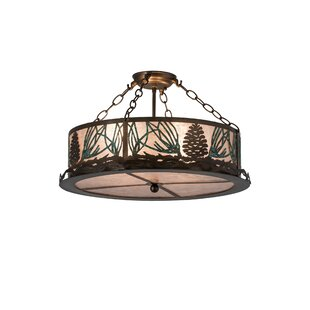 Zanders 4-Light Semi Flush Mount by Loon Peak