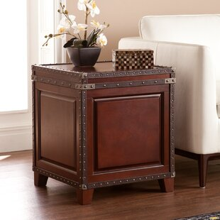 Great deal Newton End Table With Storage By Alcott Hill