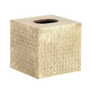 Wood Square Tissue Box Cover