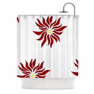 Pointsettias Shower Curtain