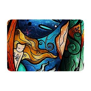 Mandie Manzano Fathoms Below Mermaid Memory Foam Bath Rug
