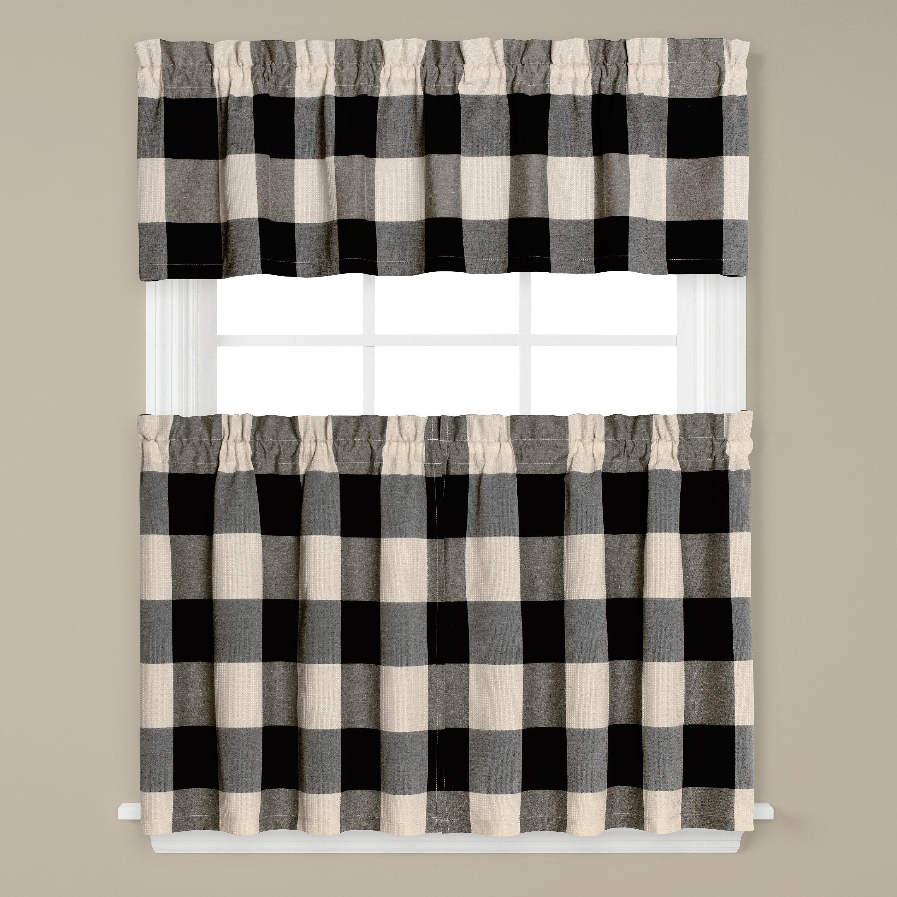 August Grove Kitchen Curtain Reviews Wayfair