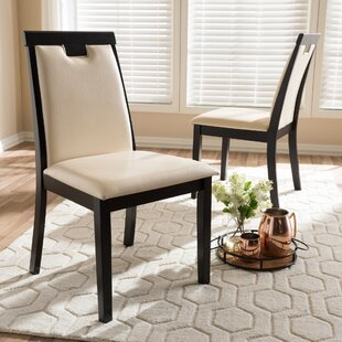 Plotinus Upholstered Dining Chair (Set of 2) Wrought Studio