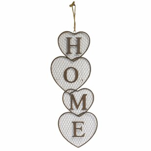 Mesh Heart Home Metal Wall Decor