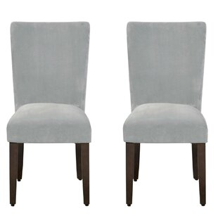 Andrade Velvet Upholstered Parsons Chair Set of 2 by Red Barrel Studio