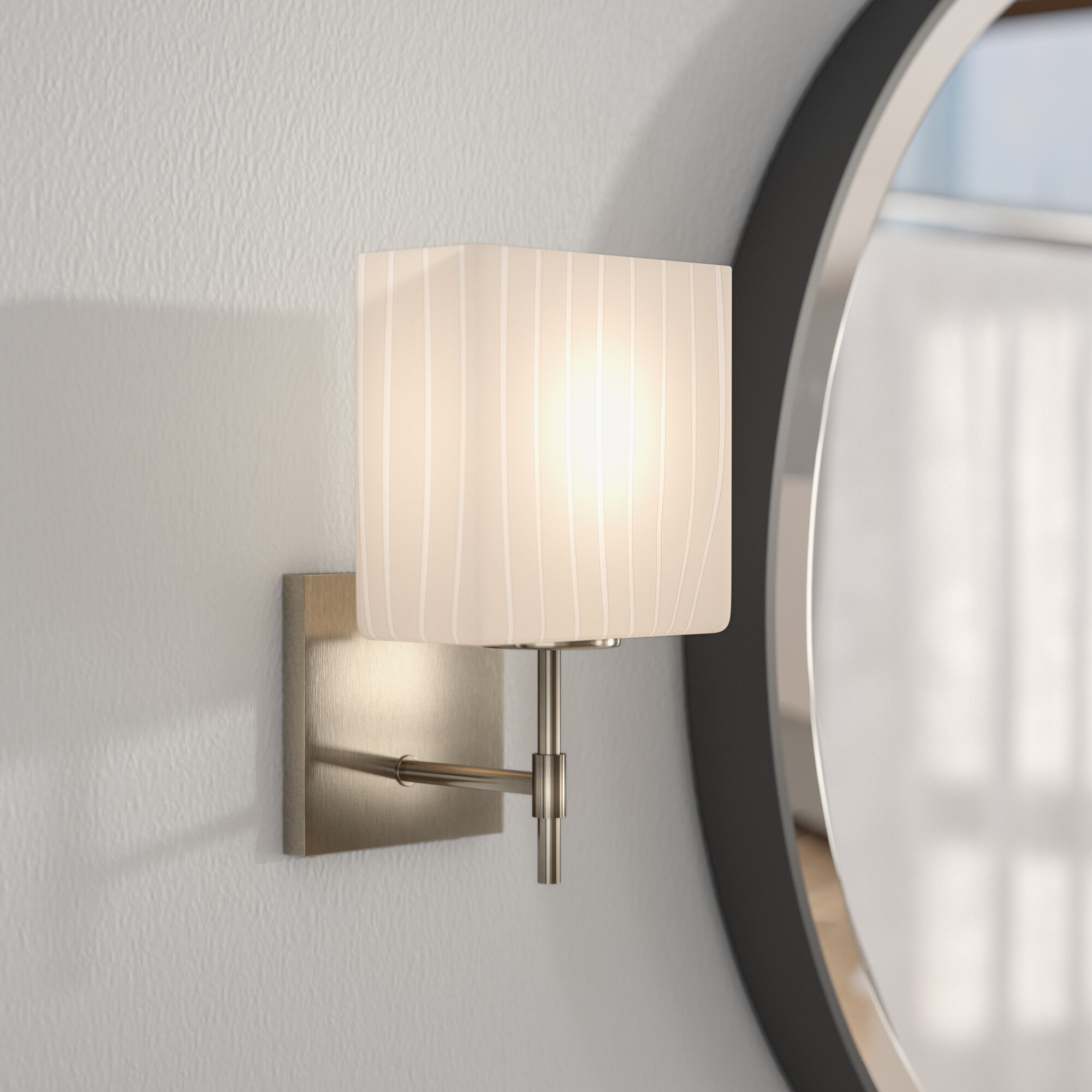 Latitude Run Donashia 1 Light Armed Sconce