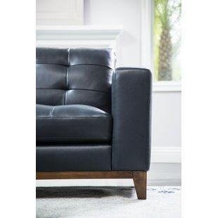 Corrigan Studio Caleb Leather 2 Piece Living Room Set