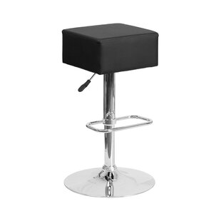 Orren Ellis Spade Adjustable Height Swivel Bar Stool