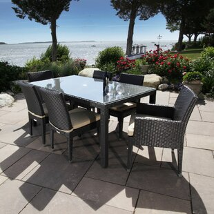 Cypress 7 Piece Dining Set with Cushions by Madbury Road