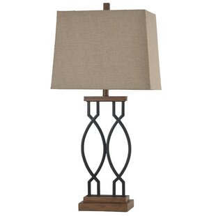 Valente Wood Metal Transitional 33.25 Table Lamp