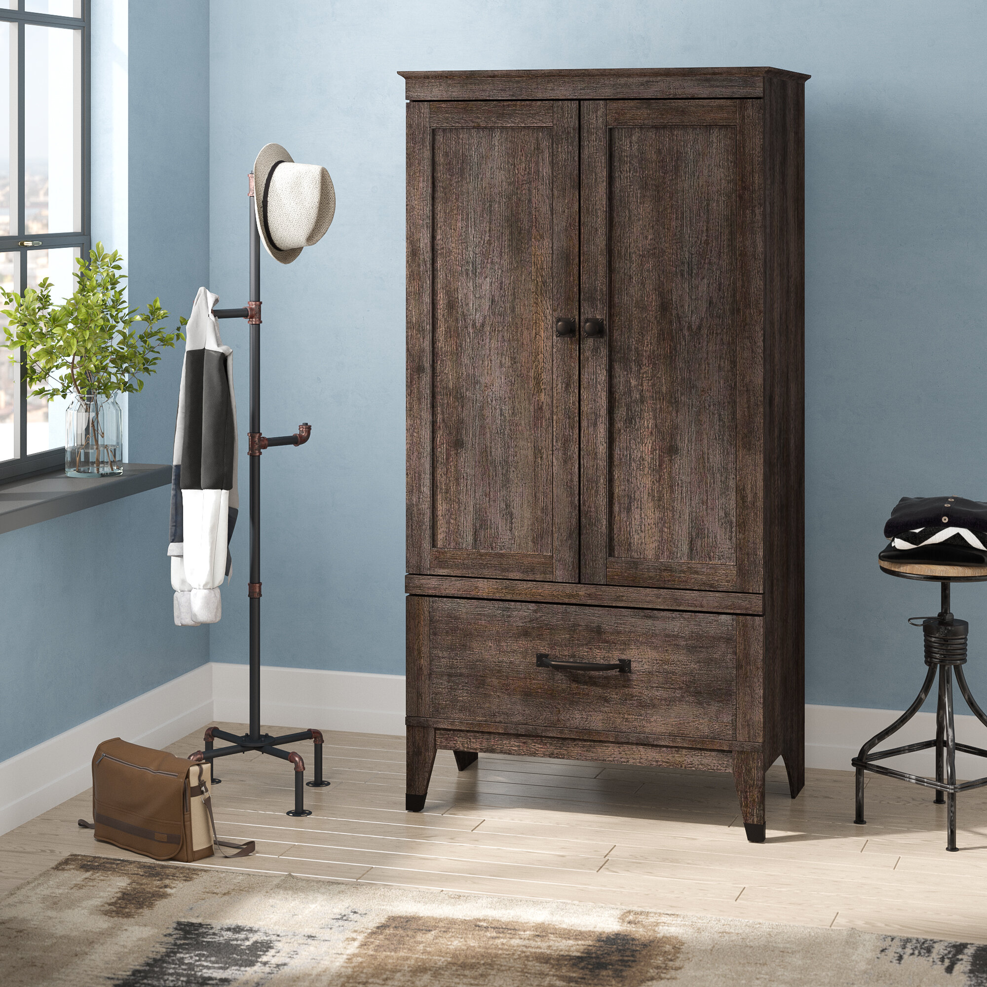 Trent Austin Design Chappel 2 Door Wardrobe Reviews Wayfair