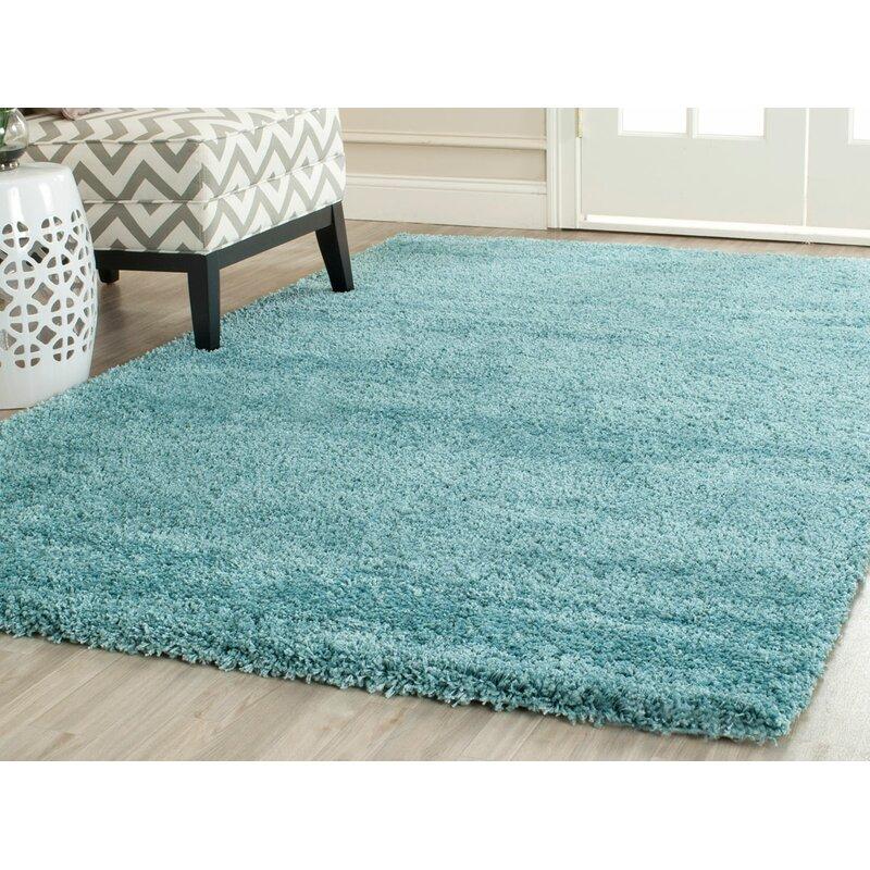 Starr Hill Loom Aqua Blue Area Rug