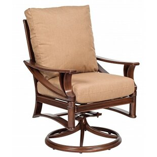 Arkadia Rocker Swivel Patio Dining Chair with Cushion by Woodard