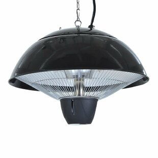 Madeleine 1500W Ceiling Mounted Electric Patio Heater With Remote Control By Belfry Heating